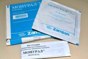 Монурал таблетки от цистита для женщин