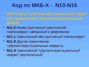 Код мкб 10 мкб хронический пиелонефрит обострение