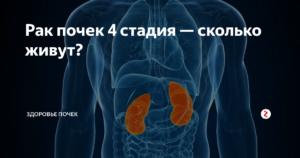 Рак почки четвертая стадия