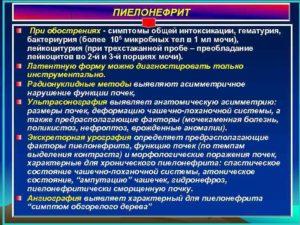 Пиелонефрит обострение симптомы