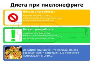 Что можно есть при пиелонефрите детям
