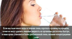 Выпил много воды заболели почки