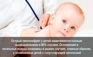 Острый пиелонефрит симптомы у грудничка